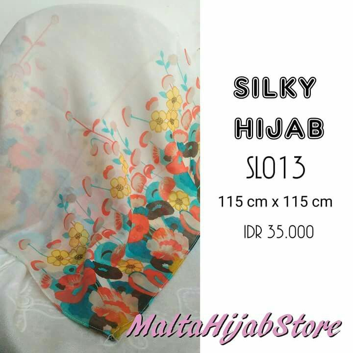 Silky Hijab Material: Cotton Silk Follow our instagram for more updates @maltahijab_store