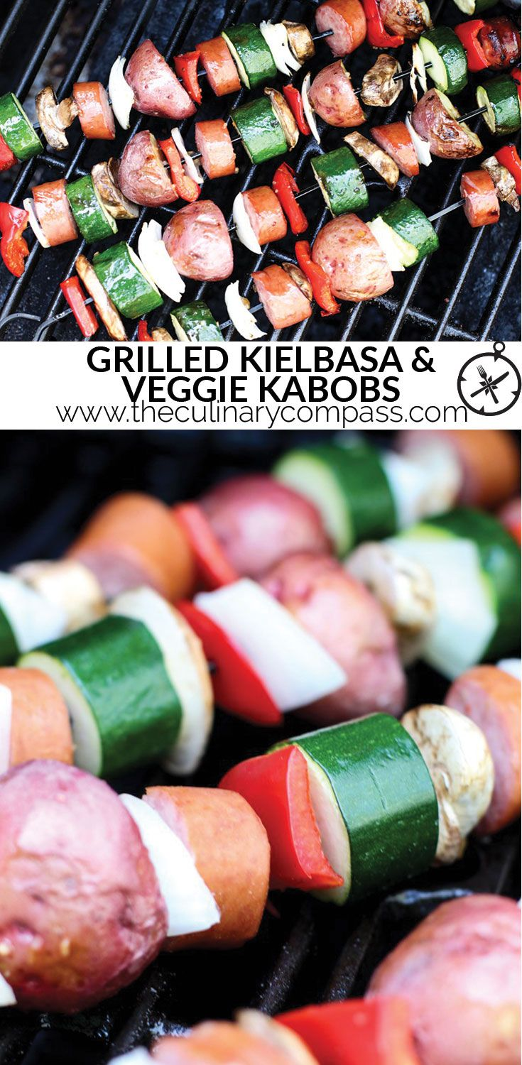These Grilled Kielbasa and Veggie Kabobs are easy to throw together for any night!