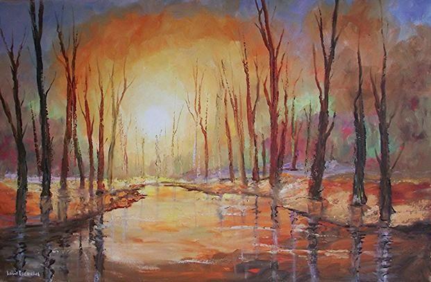 Sunset trees on riverbank | Melkbosstrand | Gumtree South Africa