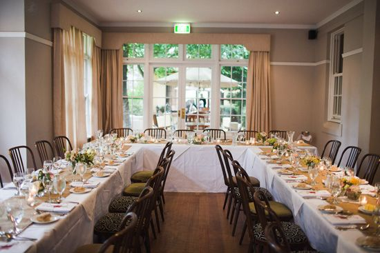 how to plan a small wedding reception