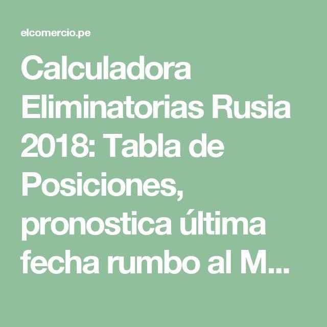 Calculadora Eliminatorias Rusia 2018: Tabla de Posiciones, pronostica última fecha rumbo al Mundial | Deporte Total | Eliminatorias | El Comercio Perú