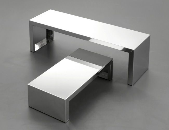 11 best images about Stainless steel end tables nightstand on
