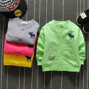 0-1-2-3-летний мужчина ребенка весной новый женский детская одежда хлопка пальто шутника одежду детскую одежду в течение 6 месяцев
