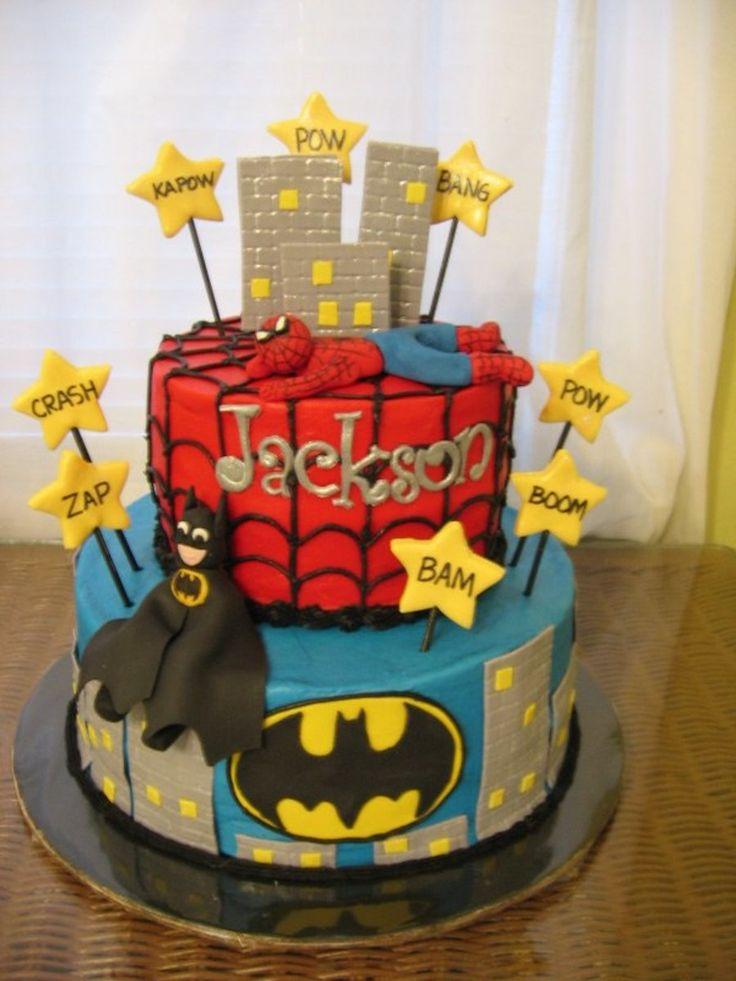 Batman/Spiderman cake