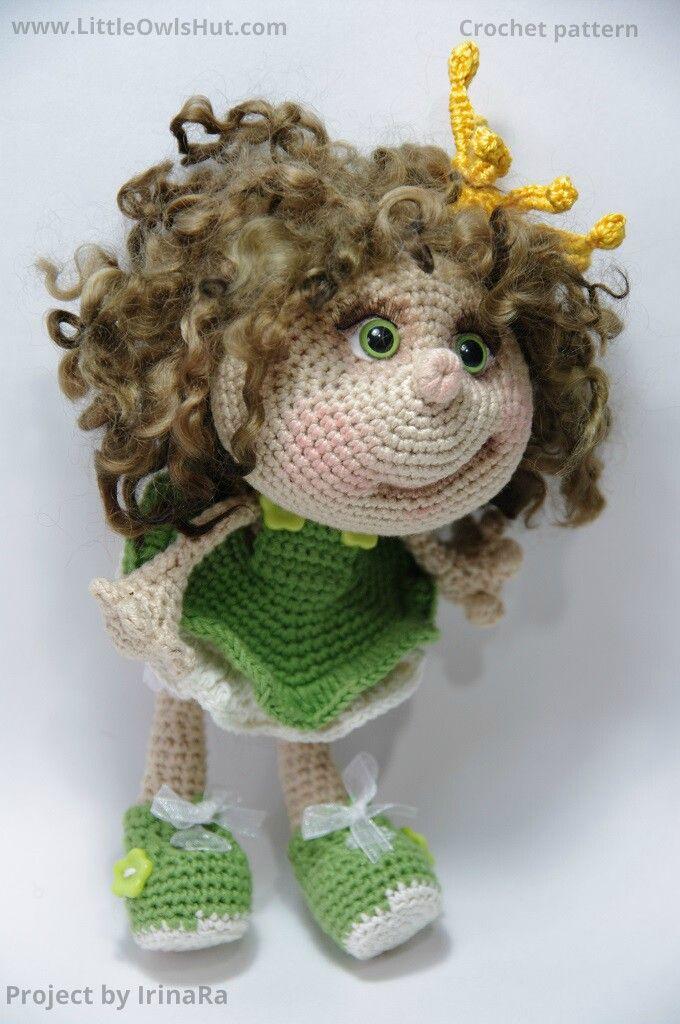Project by IrinaRa. Doll Princess Amigurumi toy created using LittleOwlsHut…