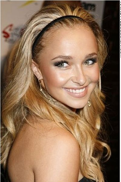 Hayden Panettiere's hair is long, thick and wavy. It appears to be all one length and the look is fresh and clean. Keeping the hair back, Hayden has chosen a bandeau which keeps any loose hair away from the face. This look is cute and stylish.Hayden's hair is cut long.The hair colour is a dark blonde.