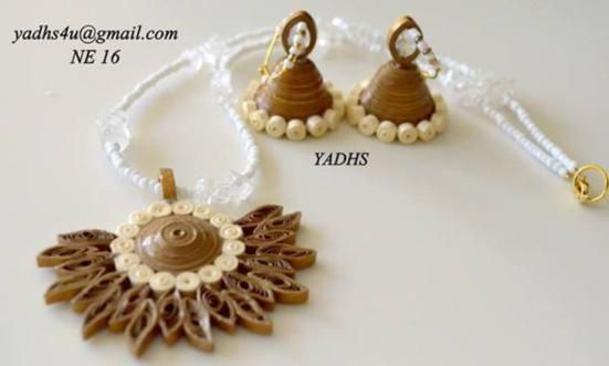 Beautiful Paper Quilling Jewelry By Yadhs - Life Chilli