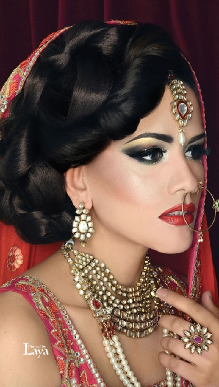 Modern Bride - i see this as a more modern Indian bridal look with the use of colour on the eye
