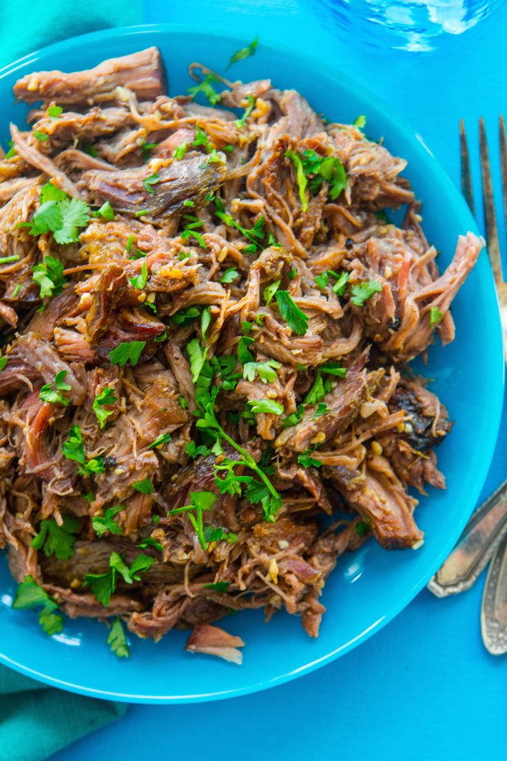 Slow Cooker Beef for Street Tacos, Chili, Sandwiches...you name it! I like to make this recipe on Sunday and enjoy it the rest of the week. #slowcooker #crockpotrecipes #paleo