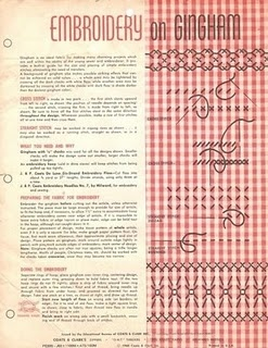 Need to try chicken scratch- embroidery on gingham