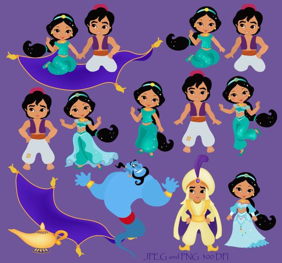 Desert Princess Digital Clipart / Princess Jasmine Digital Clipart For Personal and Comercial Use / INSTANT DOWNLOAD
