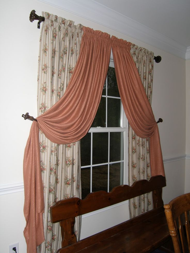 Beautiful Lace Balloon Curtains With Curtain Hardware And