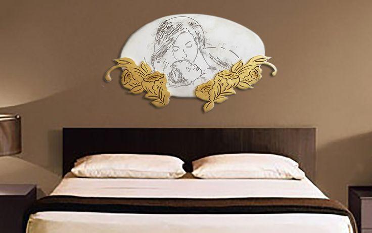 Capezzale moderno cod 58. Dipinti astratti su tela materica spatolata. dipinti moderni per arredare le camere da letto. Quadri dipinti interamente a mano