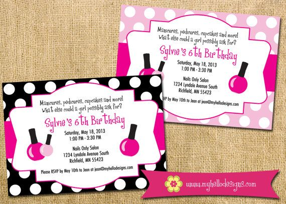 9 best Spa Party images – Pedicure Party Invitations