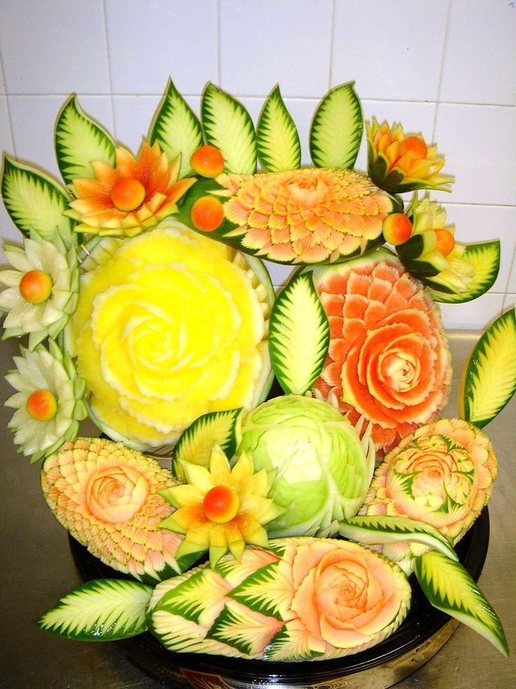 Sculptures De Fruits sur Pinterest  Sculptures Sur Fruits, Sculpture ...