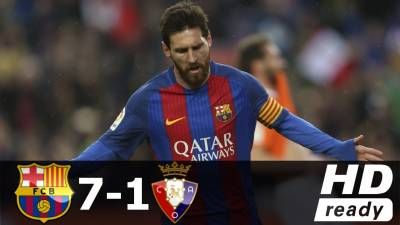 Barcelona vs Osasuna 7-1 – All Goals & Extended Highlights – La Liga 26/04/2017 HD -  Click link to view & comment:  http://www.naijavideonet.com/video/barcelona-vs-osasuna-7-1-all-goals-extended-highlights-la-liga-26042017-hd/