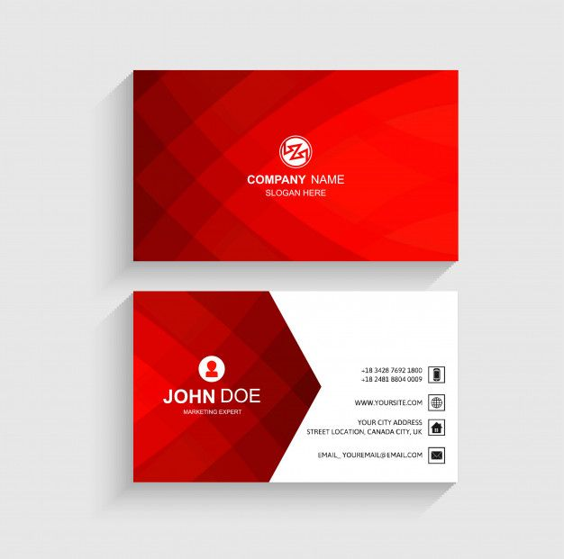 Abstract Business Card Template Beautiful Design Free Vector Business Card Template Business Card Design Creative Free Printable Business Cards