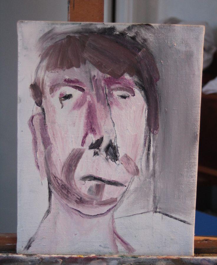 Portrait. 2014. Oil on canvas. Hanna rubensson.