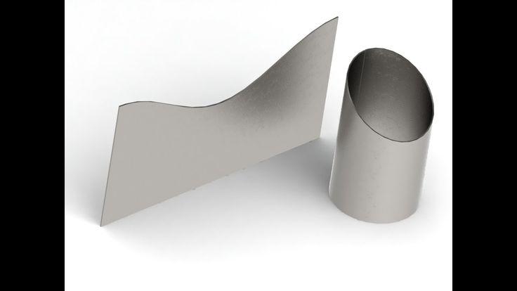 Как сделать развертку скошенного цилиндра в SolidWorks
