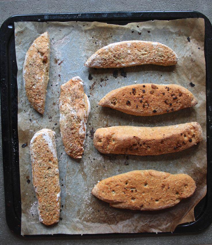 Recipe gluten free bread with rosemary and sea salt  Opskrift glutenfri flutes brød med rosemarin og havsalt