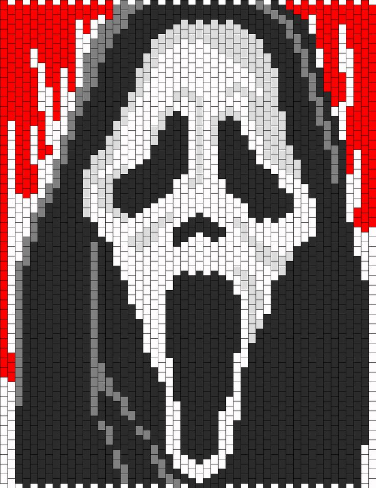 Scream Bead Pattern | Peyote Bead Patterns | Characters Bead Patterns