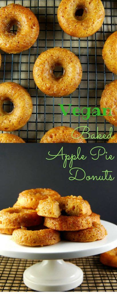 Baked Apple Pie Donuts, whole wheat