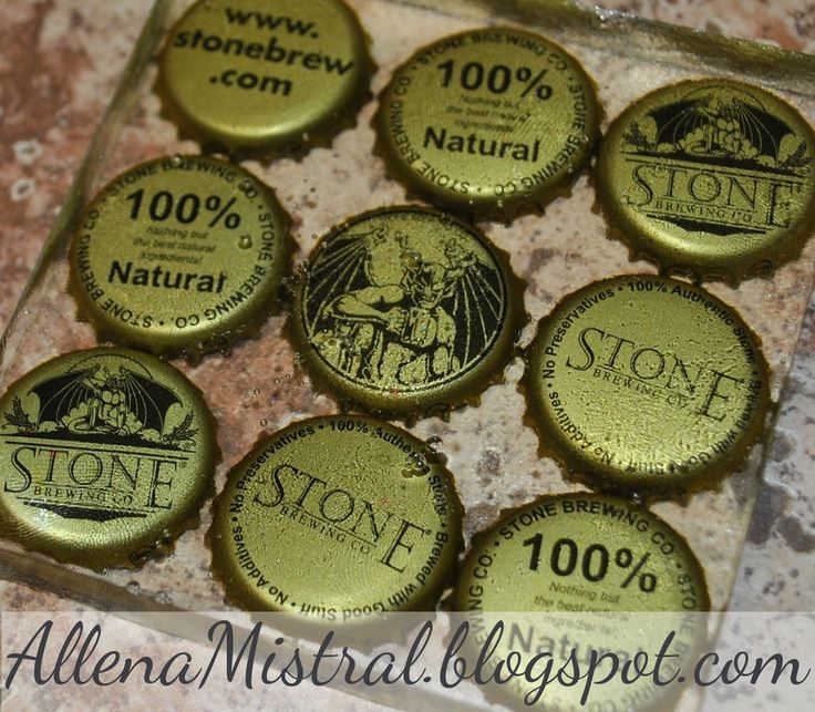 Resin Post Caps : Man cave resin coasters bottle cap and