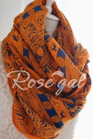 Ethnic Pattern Embellished Scarf For Women - Rosegal