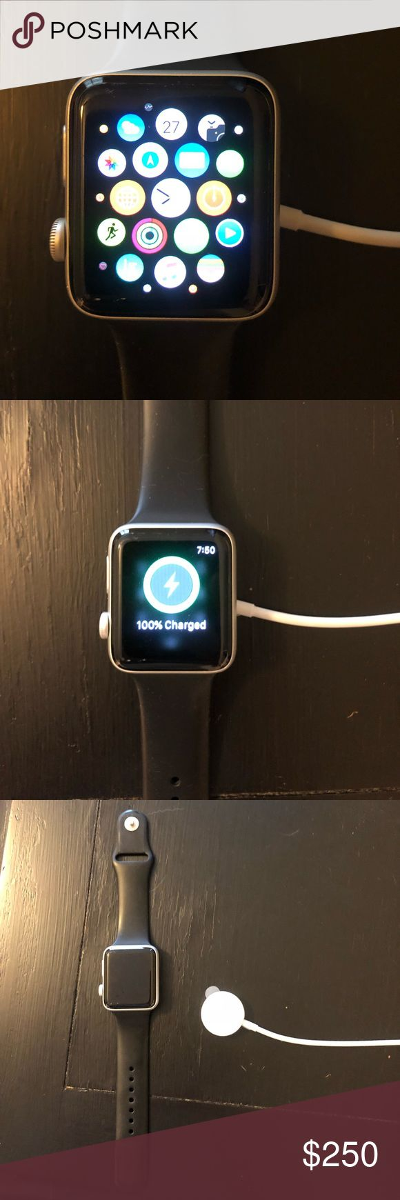 42 mm series 2 Apple Watch (water resistant) I have a 42mm series 2 Apple iwatch (water resistant) for sale. I still have the original band it came with, original box and charger. The watch has Apple care on it until December 2018, it has also had a zagg screenprotector on it since the day of purchase. There's nothing wrong with the watch, I just updated to the latest model and no longer need this one. Other