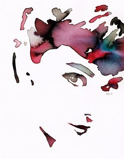 Audrey Hepburn, watercolor