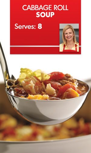 This delectable #soup #recipe from #AnnaOlson has everything cabbage rolls offer, without the hassle of rolling and filling the cabbage leaves.