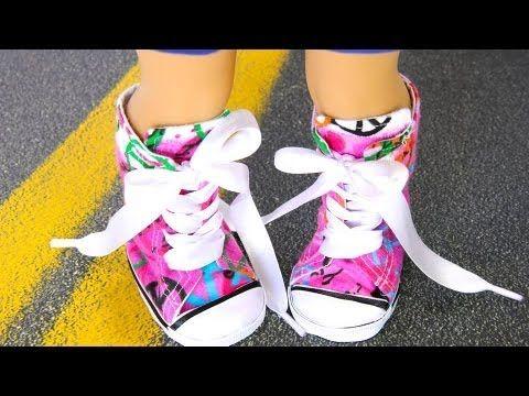 Cómo hacer Doll Shoes: Cambiar el tamaño de 18 pulgadas: Zapatillas de deporte | Plus American Girl Muñeca Mini Collection Update
