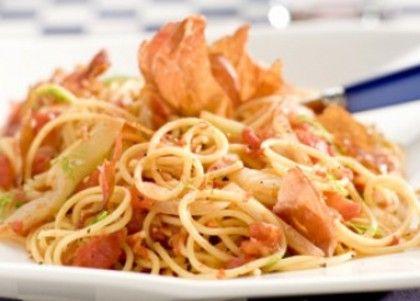 Recept voor spaghetti met venkel en tomaat