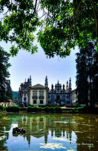 Garden and Palace of Mateus, Portugal.