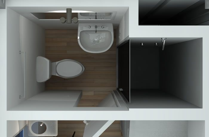 Cabin/ Container Bathroom Layout