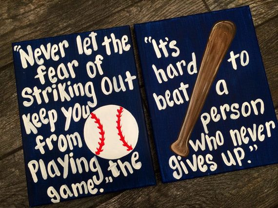 Baseball Painting Never Let The Fear of Striking by MelanieLupien