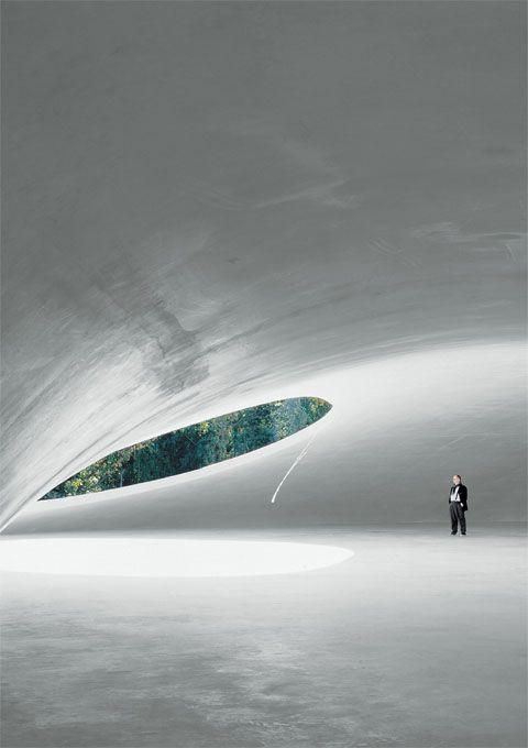 Teshima Art Museum - designed by Ryue NISHIZAWA, Japan