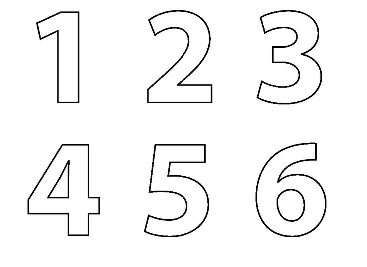 35 Best Simple Numbers Images On Pinterest