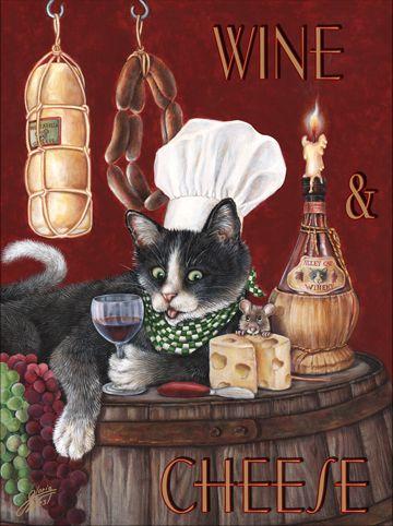Gloria West / Cat chef - Wine & Cheese