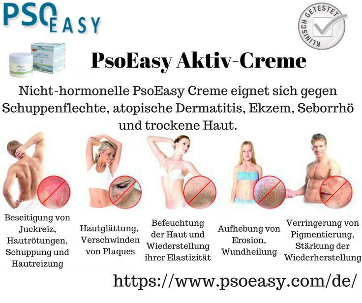 Nicht-hormonelle #PsoEasy Creme eignet sich gegen #Schuppenflechte, atopische #Dermatitis, #Ekzem, #Seborrhö und trockene Haut.