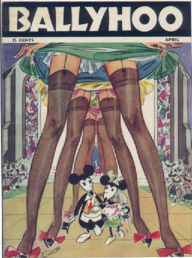 April Ballyhoo ~ Russell Patterson, via: Mickey Mouse Weddings, Illustration, 1936 Ballyhoo, Russell Patterson, Disney, Ballyhoo Covers, Vintage Magazines, Magazines Covers, Vintage Love