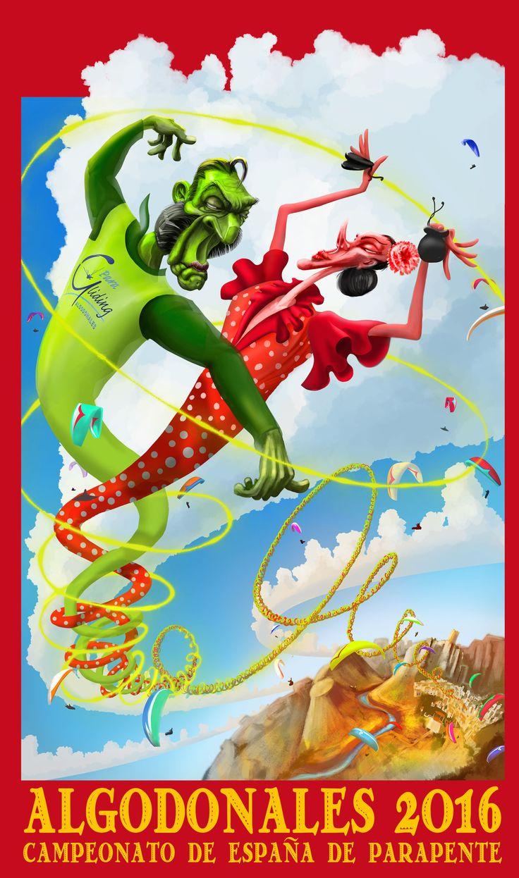 Algodonales paragliding. Flamenco