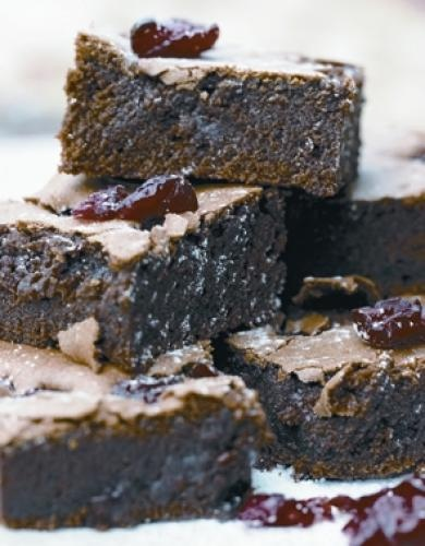 Chocolate + Cranberry Brownies