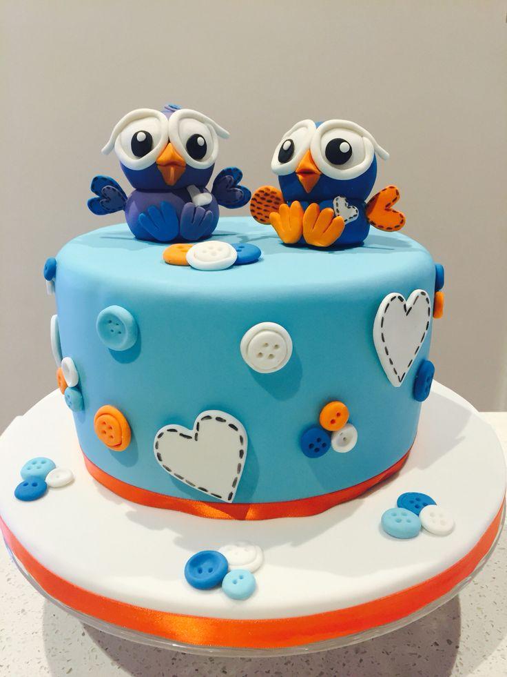 Ryder's 2nd birthday cake 'Giggle and Hoot' theme