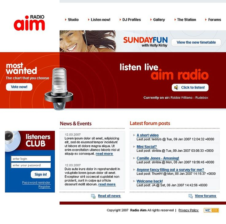 Radio Website Website Template #15238