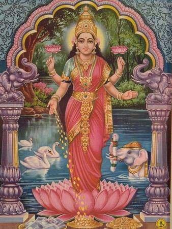 Laksmi, Hindu demigoddess of fortune.