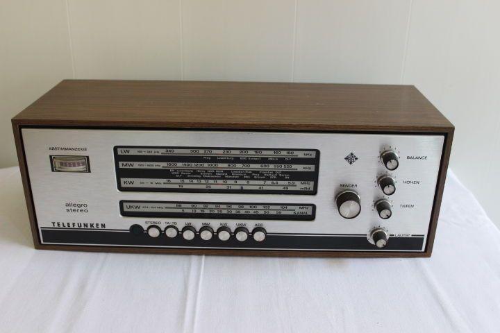 altes Radio Telefunken Allegro Stereo 101 Radio, Audio