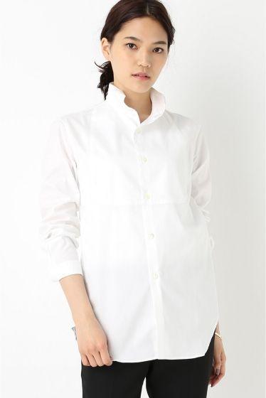 m's braque オックスウイングカラーシャツ  m's braque オックスウイングカラーシャツ 24840 しっかりとした厚みのあるオックス生地を使用したシャツはメンズライクな雰囲気が新鮮 着込むほどに馴染む風合いがデイリーユースに取り入れたいシャツです ブラックボトムやデニムと合わせてトラッドブランドならではの仕立ての良さが映える1着です m's braqueエムズ ブラック 日本のファッションブランドコンセプトはモードとクラシックの間のリアルクロージング 表層的なデザインだけでなくカッティングや流れる曲線を大切にし着心地とデザインを両立ヨーロッパ各地を回りヴィンテージやデッドストックなど現代では再現できない貴重なもの意匠的な素材や付属を独自のパターンメイキングで表現する艶や色気を大切にテーラリングをベースにしながら独特の抜きが内在するその圧倒的な背中の美しさこだわった物造りを追及し独自のスタイルを提案している 取り扱いについては商品についている洗濯表示にてご確認下さい 店頭及び屋外での撮影画像は光の当たり具合で色味が違って見える場合があります…