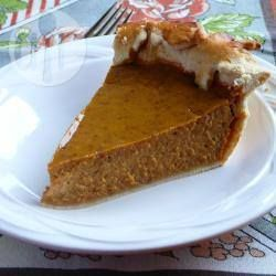 Home-made pumpkin pie. Used the surplus of pumpkin at Halloween. This was very yummy although maybe next time I'd used less spice (and I like cinnamon a lot).