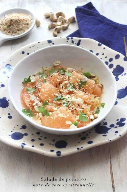 Very Easy...Kitchen: Salade de pomelos, noix de coco et citronnelle